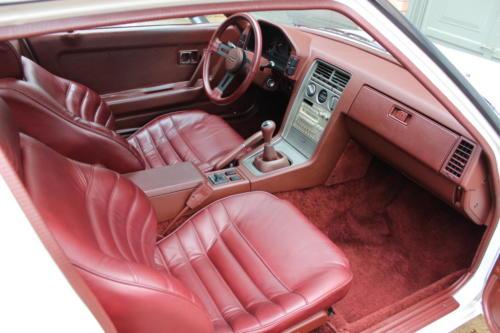 1984 Mazda RX-7 GSL-SE. Dover white,  Red leather interior